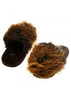 Chewbacca Face Plush Slippers
