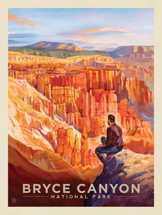 Kai Carpenter for Anderson Design Group: Oil Painting, Retro Travel Poster, Bryce Canyon National Park