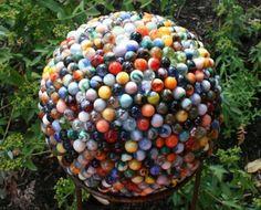 Reclaimed marble garden sculptures...neat idea.