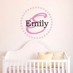 Ballerina Wall Decals Girls Name Personalized Custom Decal Vinyl - Monogram wall decals for business