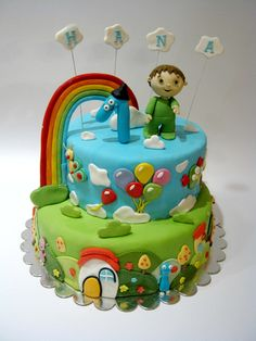 Charlie Amp Baby Tv Cake  on Cake Central