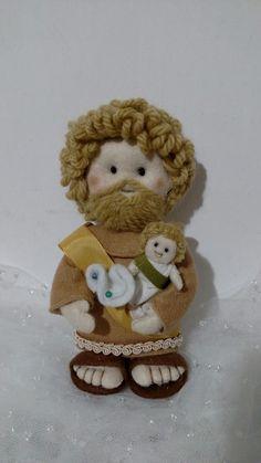 Santo José em feltro feito a mão