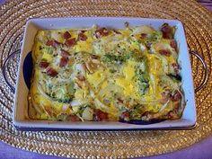 Brokolici si rozdělíme na růžičky a dáme na 10 minut povařit do osolené vody.Pak ji vyndáme a položíme do vymazané zapékací misky. Na ni... Casserole Recipes, Lasagna, Quiche, Zucchini, Paleo, Food And Drink, Veggies, Healthy Recipes, Diet