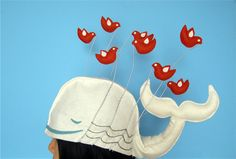 Twitter Fail whale Hat by Hine Mizushima, via Behance