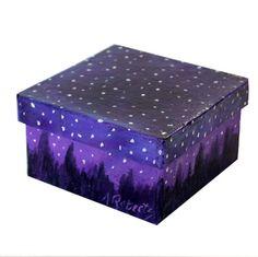 Starry Night Sky Jewelry Gift Box, Hand Painted Box, Star Box, Night Sky Box