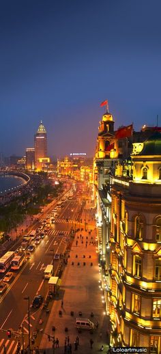The Bund, Shanghai, China. Incredible old architecture transformed