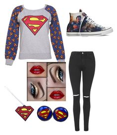 """""""Super cute"""" by im-the-quenn ❤ liked on Polyvore featuring Fabric Flavours, Topshop and Converse"""