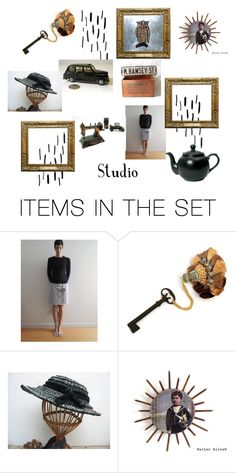"""""""N. Ramsey St. Studio"""" by shopluckduck ❤ liked on Polyvore featuring art"""
