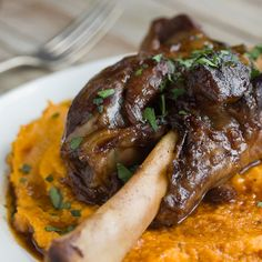 Braised Lamb Shanks and Root Vegetable Puree | 29 Cozy And Delicious Things To Make On A Snowy Weekend