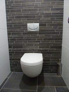 1000 images about toilet on pinterest toilets clean toilets and met - Deco wc zwart ...