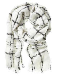 Claudette プレイドスカーフ