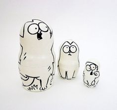 Simons Cat matryoshka cartoon custom nesting от RusVernissage