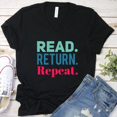 This librarian v-neck shirt/bookish graphic tee fits like a well-loved favorite. It will make the book lover gift and will quickly become a wardrobe staple.