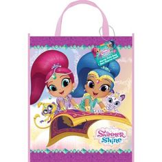 Large Plastic Shimmer and Shine Favor Bag, 13 inch x 11 inch, Multicolor