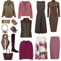 capsule wardrobe, how to create a colour scheme That dress in the right corner!! Oh my god!