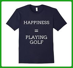 Mens Happiness Golfing Funny Golf T Shirts Gifts for Golfers. 3XL Navy - Sports shirts (*Amazon Partner-Link)