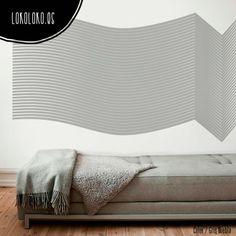 #ViniloDecorativo con líneas rectas y curvas / #WallSticker with straight and curv lines  #VinilosDecorativos