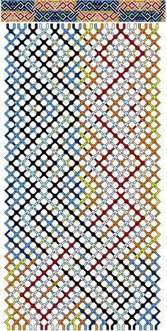 Схема фенечка косое плетение