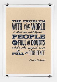 The Problem With The World  Quote  Print by twenty21onecreative, $25.00