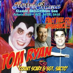Detroit legendary horror host Count Scary, Tom Ryan  - coming to Windsor's RetroRama Classic Collectibles Con Oct. 30/2016! www.Facebook.com/RetroRamaWindsor Ronald Mcdonald House, Oct 30, Special Guest, Vintage Halloween, Windsor, Childhood Memories, Detroit, Scary, Count