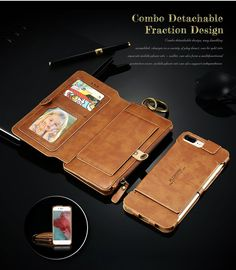 leather iphone 7 Plus  case with wallet