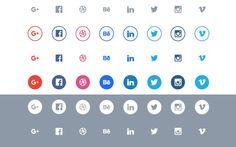 Social flat icons set es un paquete de elegantes iconos sociales gratuitos de estilo plano. Se presentan en 5 formatos: AI, SVG, EPS, PDF, Sketch.