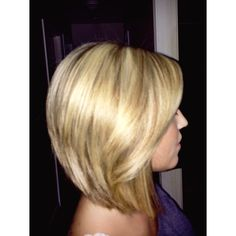 Loving my long angled bob with stacked layers in the back :)
