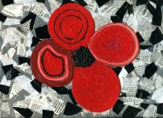 Remembrance day poppy art