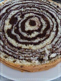 Kouzlo mého domova: Mramorový dort s tvarohovým krémem a jahodami