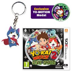 Nintendo UK store - Yo-Kai Watch 2 purchases come with keyring and medal   A sinister force has sparked a war between two Yo-kai factions Bony Spirits and Fleshy Souls causing chaos throughout the world. Now Nate and friends must travel through time to find out who is behind the evil plot.  This bundle includes YO-KAI WATCH 2: Bony Spirits/Fleshy Souls an exclusive YO-MOTION medal and a FREE Rubber Keychain.  Grab your preorder here  from GoNintendo Video Games
