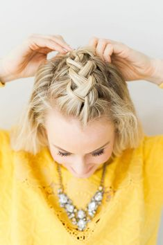 Braided Faux-hawk Tutorial #theeverygirl