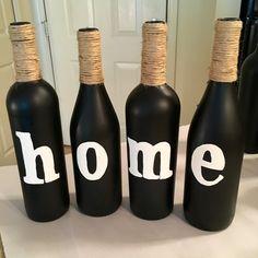 HOME Wine Bottles by BottlesByMeesh on Etsy