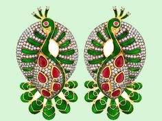 What: Earrings from Voylla  Why we like: This stunning pair of Meenakari peacock earrings is gold-plated and embellished with semi-precious stones. The green and red colours of Christmas make it a perfect gift!  Price: Rs.3,609  Where to buy: www.voylla.com