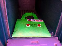 Fun with Mail - After viewing Giver's Log, this blogger decide to do some experimentation of her own as to what she could send through the mail.  She went to a dollar store and found some fun things to mail to friends/family.  The above picture is some candy placed in a little tote bag.  Click on the picture for more of her ideas to  brighten someone's day via snail mail!  :)