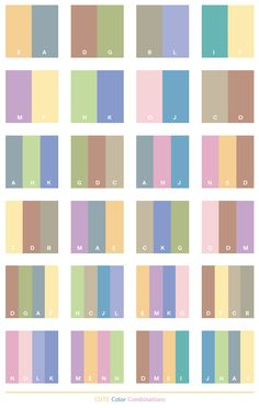 Color Schemes | Cute color schemes, color combinations, color palettes for print (CMYK ...