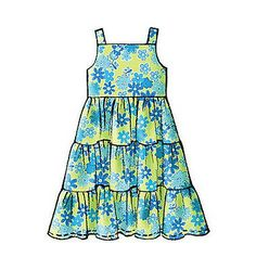 Mccall Patterns Mccall Pattern 4817 Image 3 of 6 Little Girl Dress Patterns, Kids Dress Patterns, Baby Clothes Patterns, Clothing Patterns, Little Girl Dresses, Girls Dresses, Baby Dresses, Cotton Frocks For Kids, Fancy Blouse Designs