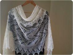 Hand knitted wedding shawl Queen Silvia cobweb lace by KnitANDlace,