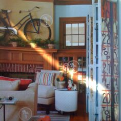 """""""flea market style"""" magazine pg. 86  Is this not a great room?  The mantel piece is fantastic! So out of the box!"""
