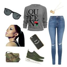 """""""She's Royal"""" by abandele on Polyvore featuring Topshop, Yves Saint Laurent, NIKE, Ray-Ban and Dollhouse"""