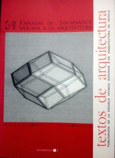 Portada de la publicación de las 3as Jornadas Aplicadas a la Arquitectura, del año 94. En la ETSA de Sevilla.