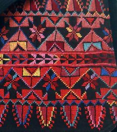 Vintage Bedouin embroidery