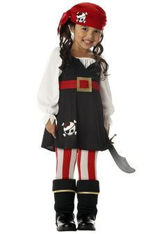 Pint-sized Pirate Lass Costume -  Halloween Toddler Pirate Costumes