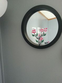 Painted with nail polish after I found a crack in mirror :)