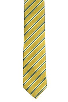 Notch Men's Silk Necktie – MILLIARD – Yellow base and stripes in green and white  http://www.yourneckties.com/notch-mens-silk-necktie-milliard-yellow-base-and-stripes-in-green-and-white/