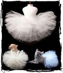 Classic Wedding White Pet Tutu