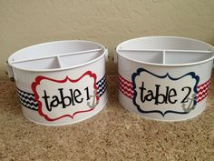 """Just had a set of these classroom caddies made to go with my nautical themed classroom. Can't wait to use these this year! Contact """"Quite a Pear"""" on Facebook to order yours and you won't regret it!"""