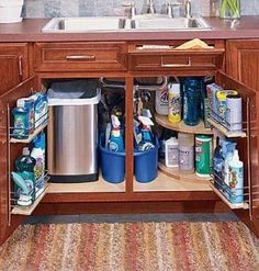 Home Storage & Organization - With these 11 tips, even the tiniest of kitchens can fully accommodate your needs. If you can't tear down walls to add more shelves and cabinets, look to these ideas to make the most of your kitchen storage options. Kitchen Organization, Kitchen Storage, Storage Organization, Storage Ideas, Organized Kitchen, Diy Kitchen, Kitchen Corner, Cabinet Storage, Corner Sink