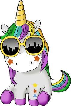 Unicorn Stickers, Cartoon Stickers, Cute Stickers, Unicorn Horse, Unicorn Art, Unicornios Wallpaper, Unicorn Drawing, Cute Shirt Designs, Unicorn Pictures