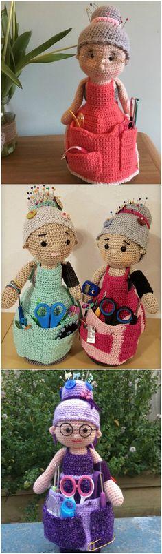 Mesmerizing Crochet an Amigurumi Rabbit Ideas. Lovely Crochet an Amigurumi Rabbit Ideas. Crochet Dolls Free Patterns, Crochet Doll Pattern, Doll Patterns, Amigurumi Patterns, Knitting Patterns, Knitting Toys, Crochet Bee, Thread Crochet, Crochet Granny