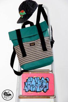 Handmade waterproof backpack bag Serbia with adjustable by FYMwear, $80.00
